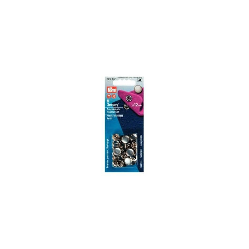 Prym Press Fasteners 12mm Jersey Pearl Refill 6 Pieces