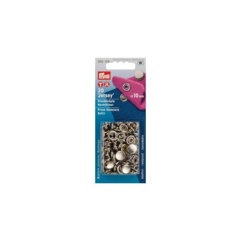 Prym Press Fasteners 10mm Jersey Cap Refill 20 Pieces