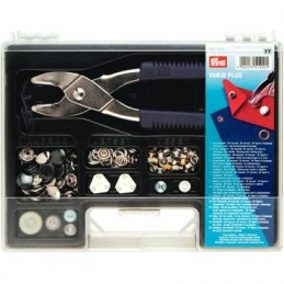 Prym Vario Plus Assortment Kit Pliers Press Fasteners Jersey Eyelets