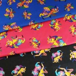 Sale The Entertainer Clowns Circus Joker 100% Cotton Fabric 135cm Wide