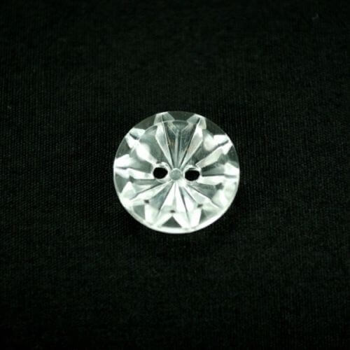 3 x Round Diamond Flower 20mm Acrylic Plastic Craft Buttons