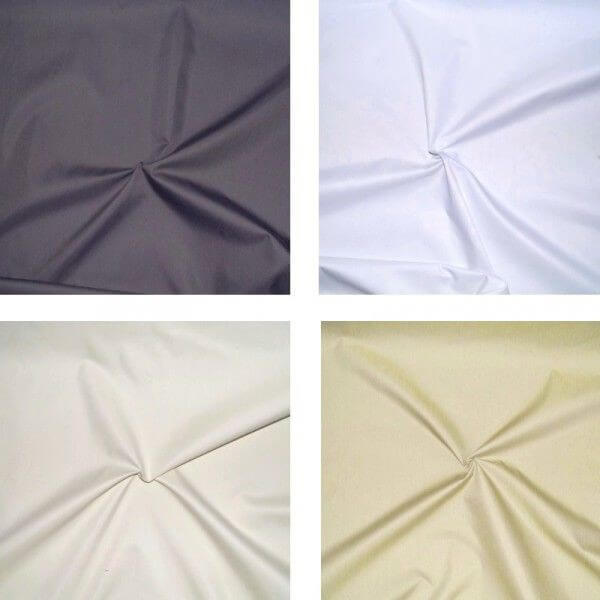 White 3 Pass Blackout Curtain Lining Fabric