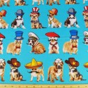 Who's Your Doggy Fancy Dress Dogs 100% Cotton Fabric