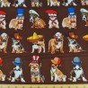 100% Cotton Fabric Benartex Who's Your Doggy Fancy Dress Dogs
