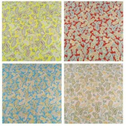 Polycotton Bright Floral Paisley Pattern Swirl Multi Colour Fabric