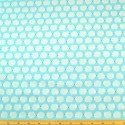 Wildflower Meadow Blue Ditsy Hedgehogs 100% Cotton Fabric