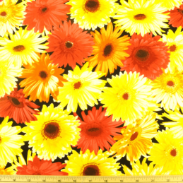 Garden Party Summer Floral Flowers In Bloom 100% Cotton Fabric