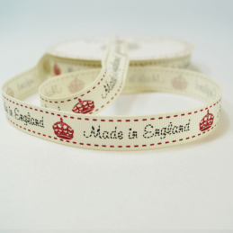 16mm Made In England Bertie's Bows Grosgrain Heart Craft Ribbon