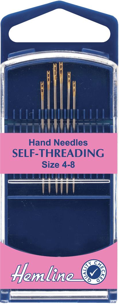 Hemline Premium Beading Gold Eye Hand Sewing Needles Size 10