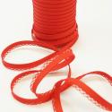 Red 12mm Fany Lace Edge Plain Double Fold Bias Binding