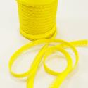 Yellow 12mm Fany Lace Edge Plain Double Fold Bias Binding