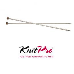 KnitPro Nova Metal Single Pointed Knitting Needles 25cm