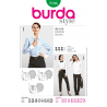 Burda Style Shirt Blouse Vintage Designs Fabric Sewing Pattern 7136