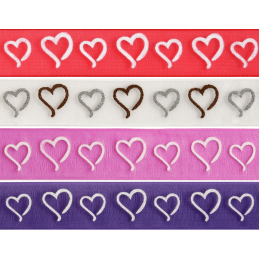 15mm x 3.5M True Love Curly Hearts Ribbon Celebration Ribbon
