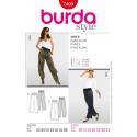 Burda Style Comfortable Trousers Fabric Sewing Pattern 7400