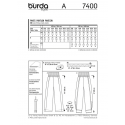 Burda Style Sewing Pattern 7400 Comfortable Trousers Loose Fit Wide Leg