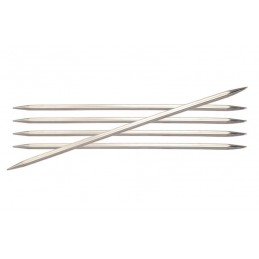 Knitpro Nova Metal Double Pointed Knitting Needles: 15cm