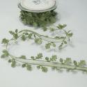 38mm Satin Oak Leaf Edge Sheer Centre Ribbon Trim Bertie's Bows