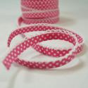 Polka Bias Mid Pink