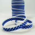 Polka Bias Royal Blue