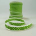 Polka Bias Lime Green