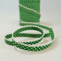 Polka Bias Emerald Green