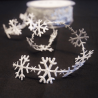 25mm Satin Cut Outs Snowflakes Christmas Festive Bertie's Bows Ribbon Trim