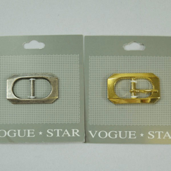Vogue Star 17mm Rectangle Squared Edges Slim Replacement Buckle Accessories