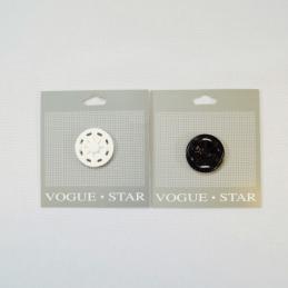 30mm Large Press Stud Popper Fastener Vogue Star