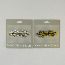 65mm Vintage Curl Scroll Clasp Vogue Star