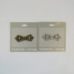 60mm Vintage Fleur De Lys Clasp Vogue Star