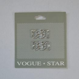 26mm Pair of Flower Heart Butterfly Clip Fastener Vogue Star
