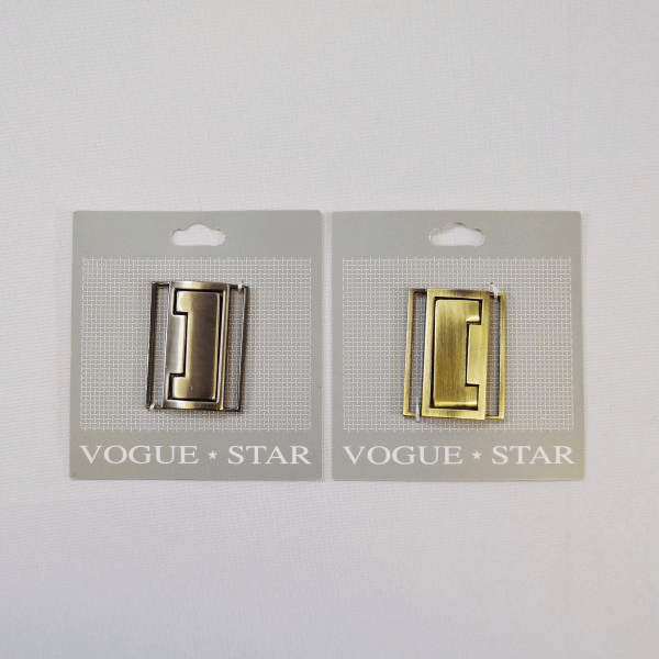 Vogue Star 40mm Brushed Metal Rectangular Clasp Replacement Fastener