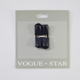 Vogue Star 38mm Pair of Plastic Cord End Clips Toggle Replacement Ends Navy