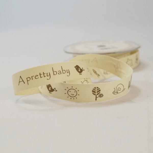 20mm A Pretty Baby Vintage Print Bertie's Bows Cotton Craft Ribbon