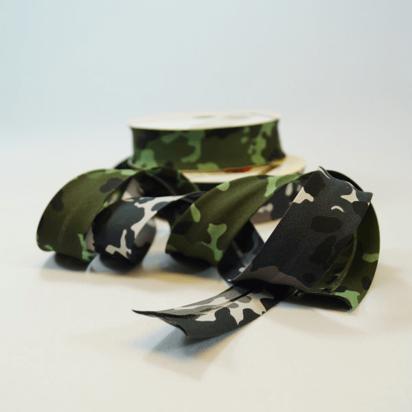30mm Arctic Jungle Camouflage Cotton Bias Binding
