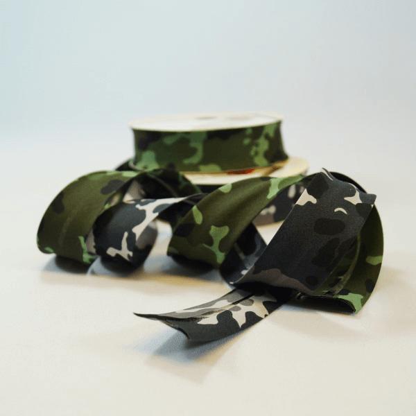 30mm Arctic Jungle Camouflage Cotton Bias Binding
