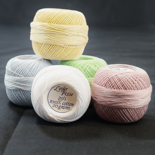 Lesur Pixie 20's Crochet Thread 20g 100% Cotton