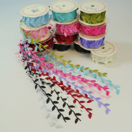 Satin Cut Outs Leaf Edge Bertie's Bows Ribbon Trim
