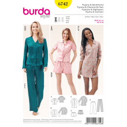 Burda Misses Sleepwear Loungewear Fabric Sewing Pattern 6742
