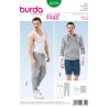 Burda Mens Jogging Tracksuit Trousers & Shorts Casual Fabric Sewing Pattern 6719
