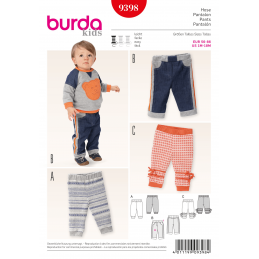 Burda Kids Children's Trousers Girls or Boys Fabric Sewing Pattern 9398
