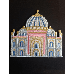Taj Mahali Palace Glitter Iron On Craft Motif Stylish Patch