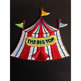 Big Top Circus Tent Glitter Iron On Craft Motif Stylish Patch