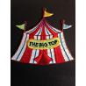 Big Top Circus Tent Glitter Iron On Craft Motif Stylish Patch