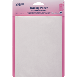 Hemline Tracing Paper: Plain - 76 x 102cm 3 sheets