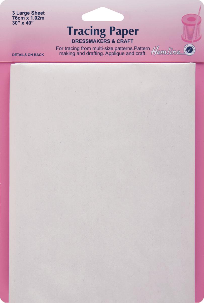 Hemline Tracing Paper: Plain - 76 x 102cm 3 sheets