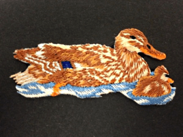 Duck and Duckling Swimming Iron On Craft Motif Stylish Patch