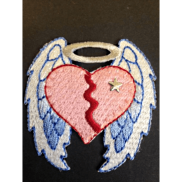 Broken Hearted Angel Wings Iron On Craft Motif Stylish Patch