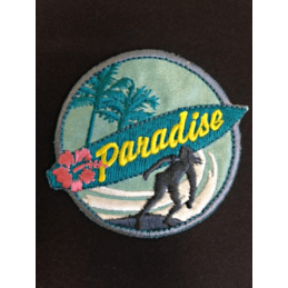 Paradise Surfs Up Surfing Ocean Iron On Craft Motif Stylish Patch